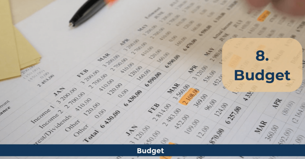 Personal Finance Terms - Budget