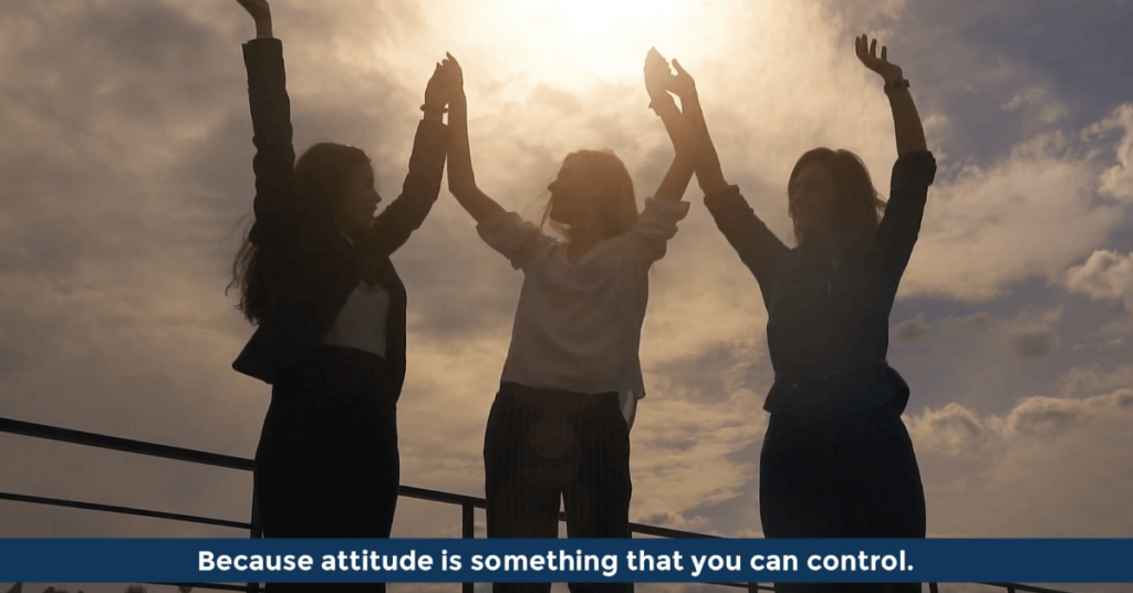 Pat VC - Attitude is something that you can control