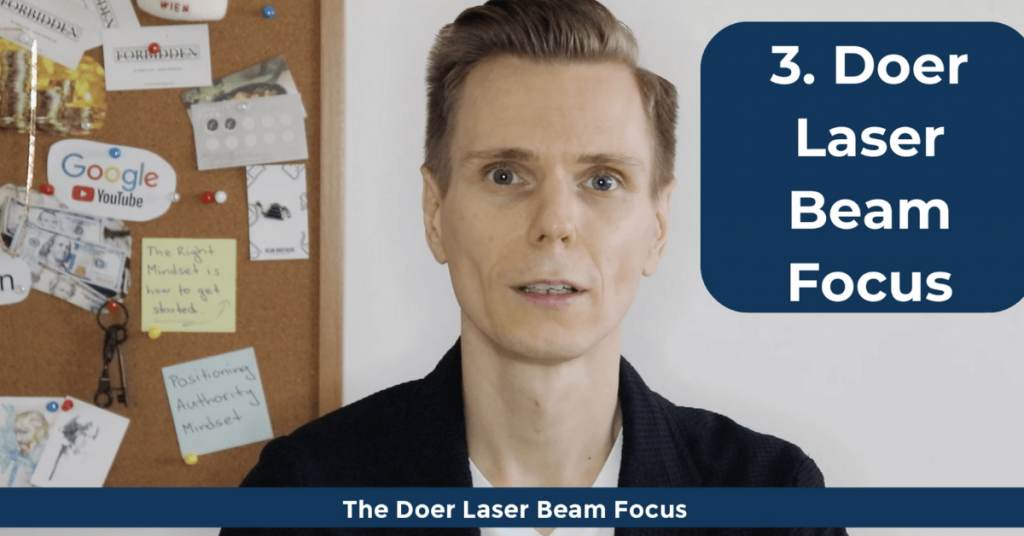 How To Become a Doer - The Doer Laser Beam Focus