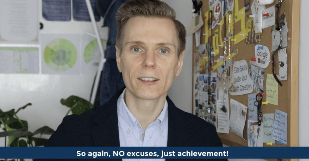 Pat VC - No excuses - just achievement