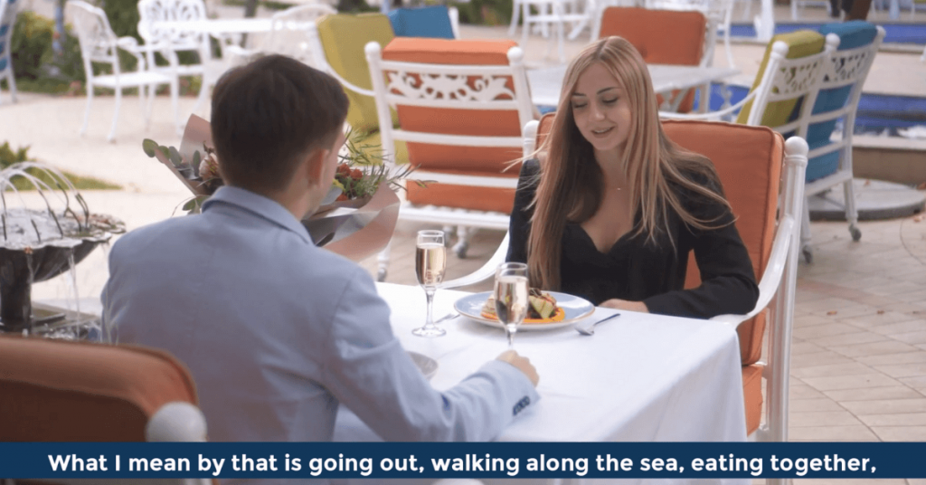 Pat VC - What I mean by that is going out walking along the sea eating together
