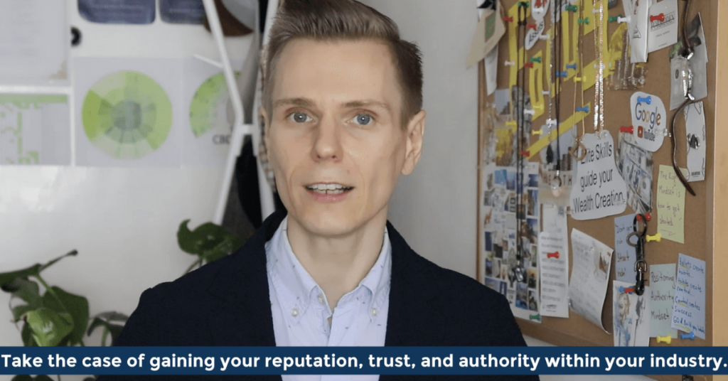 Pat VC - Take the case of gaining your reputation trust and authority within your industry