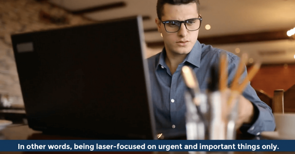 Pat VC - Being laser-focused on urgent and important things