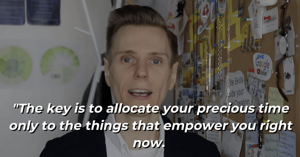 Pat VC - The key is to allocate your precious time only to the things that empower you right now