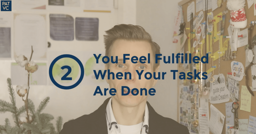Personal strengths - You feel fulfilled when your tasks are done