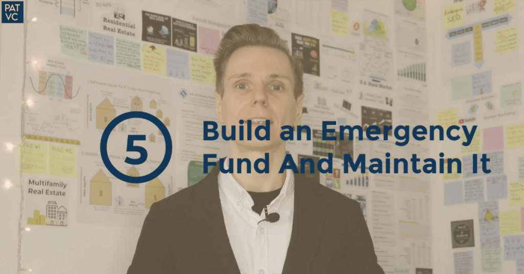 Before You Invest - Build an Emergency Fund And Maintain It