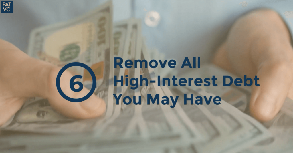 Before You Invest - Remove All High-Interest Debt You May Have