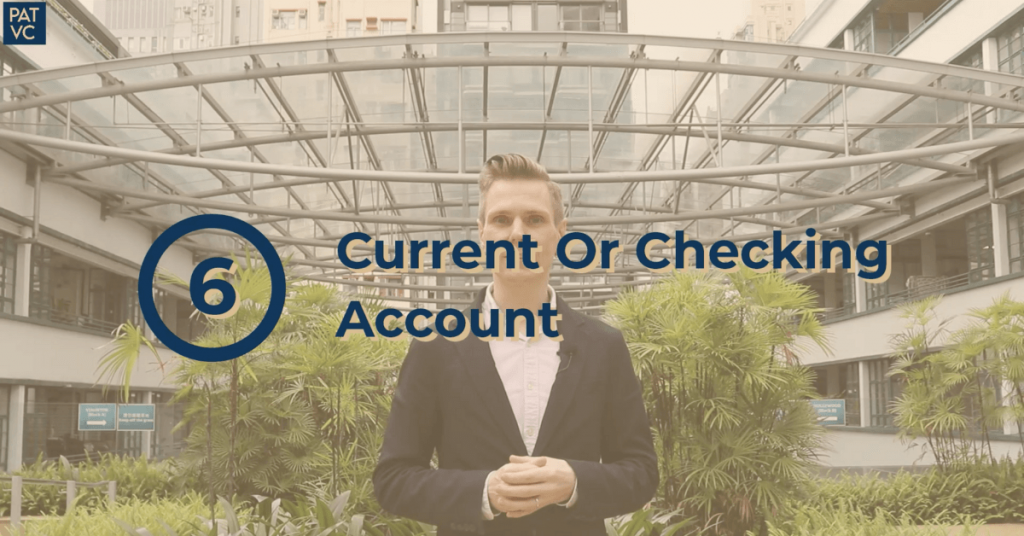 Pat VC - Current Or Checking Account Bank Account