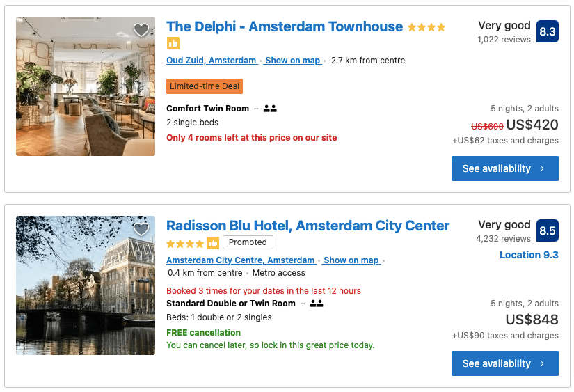 Booking.com Hotels in Amsterdam Book your hotel now