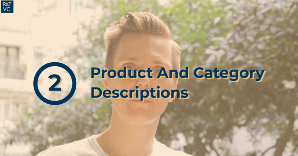 Ecommerce Marketing Strategy - Product And Category Descriptions