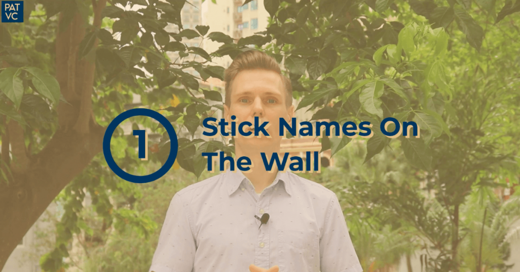 How To Remember Names And Faces - Stick Names On The Wall