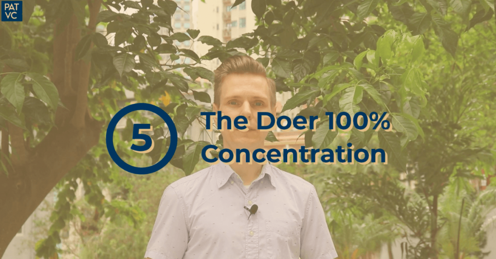 The Doer 100 percent Concentration