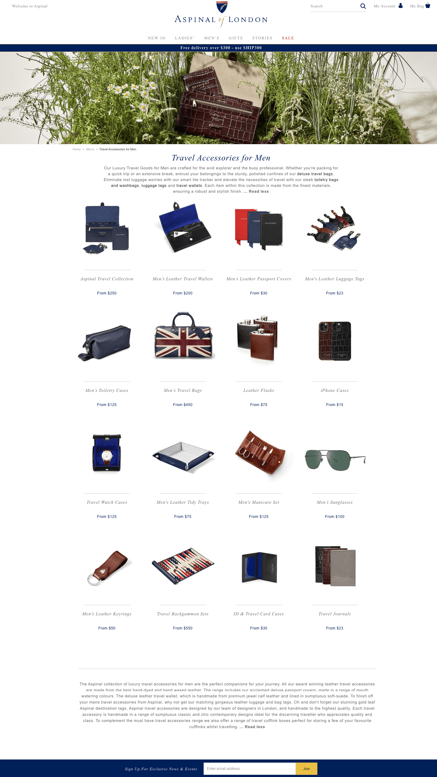 Luxury Travel Accessories for Men Aspinal of London