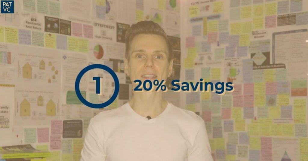 50 30 20 budget rule - Savings